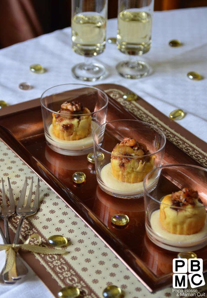Mise en bouche au foie gras et figues avec sa sauce au sauternes rien que a voir - Preparation du foie gras ...