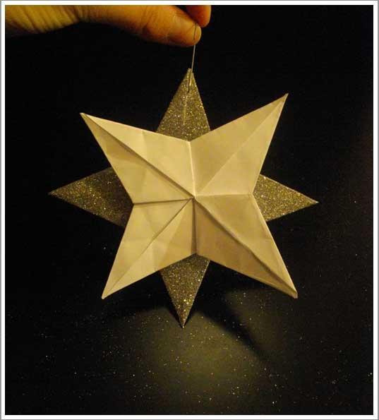 Diy une d co de no l l gante tr s facile r aliser paperblog - Origami facile a faire pour noel ...