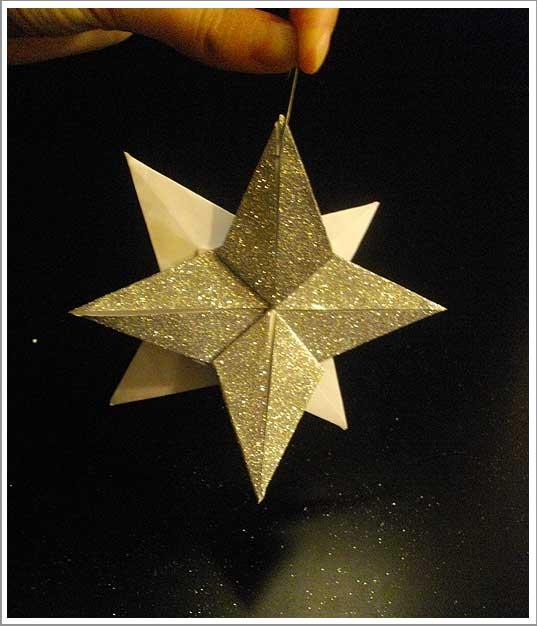 Diy une d co de no l l gante tr s facile r aliser paperblog - Origami facile pour noel ...