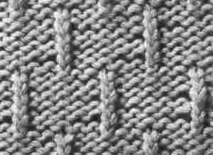 tricoter un rang endroit sur l'envers