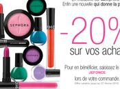 -20% pour commandes Sephora.fr