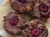Muffins marbrés chocolat framboises