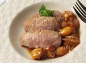 Filet mignon porc, sauce soja, citronnelle poêlée mirabelles