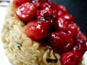 Salade quinoa cranberries (canneberges) rôties four, comme gâteau salé