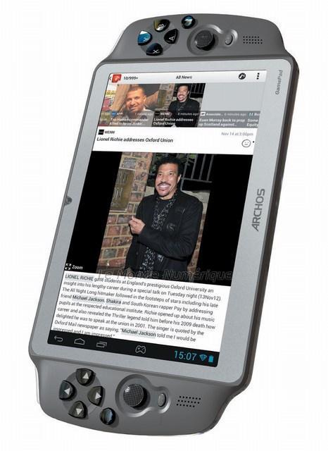 Archos lance la gamepad une console de jeu portable tablette tactile sous android paperblog - Console de jeux portable tactile ...