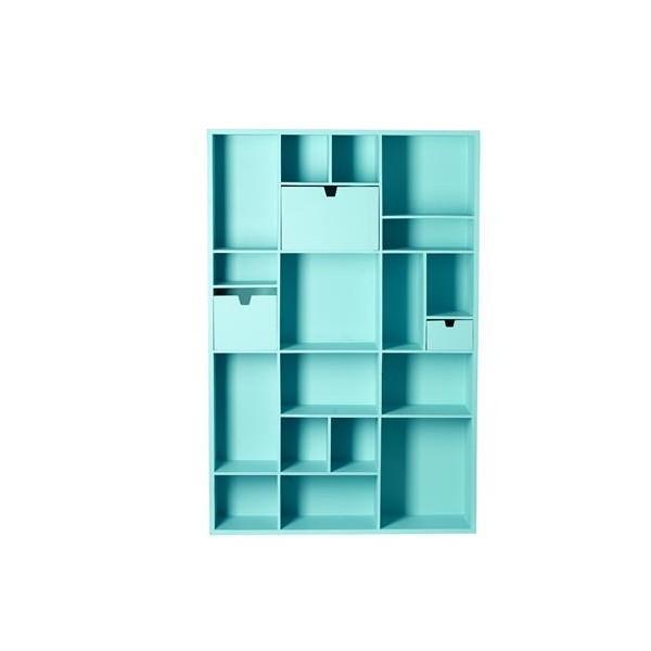 D coration biblioth que bleu d co sphair for Bibliotheque decoration de maison