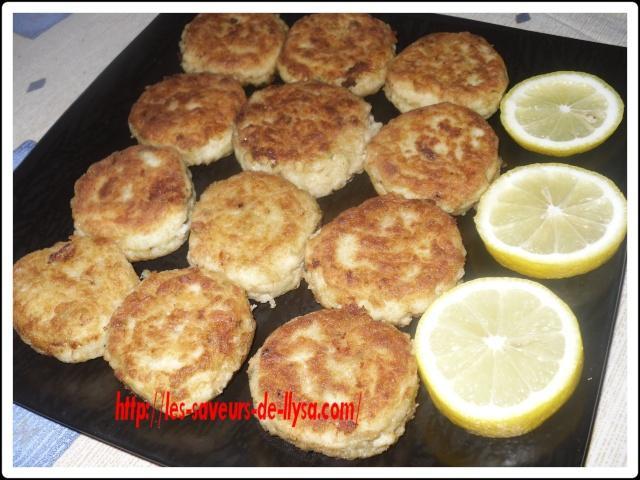 Croquettes de poisson et pommes de terre