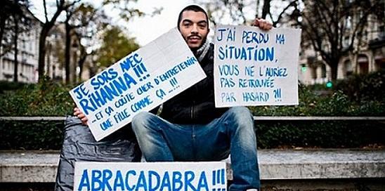 des pancartes