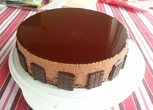 Gateau creme chiboust chocolat