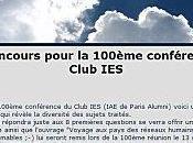 Jeu-concours pour fêter 100ème conférence Club IES...