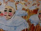 carnavals Gilles Binche Aquarelles