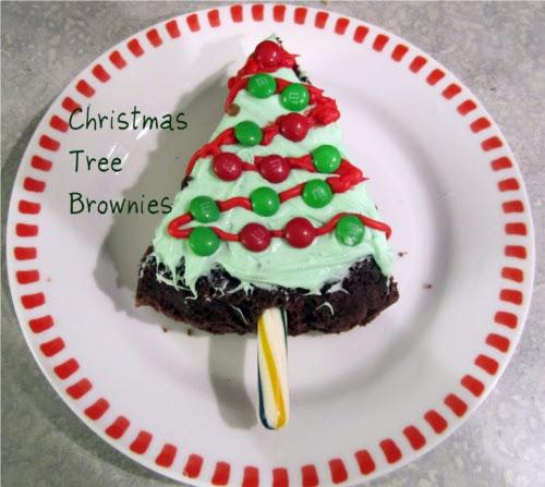Sapin de noel en brownie (christmas tree brownie)
