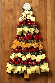 christmas tree cheddar - sapin de noel au fromage