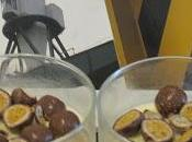 Dessert Panna Cotta Lait Coco, Chocolat Blanc, Ball