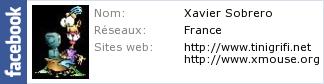 Le profil Facebook de Xavier Sobrero