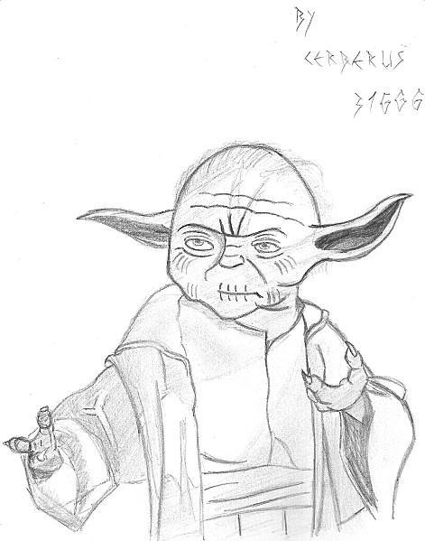 Les dessins du geek yoda paperblog - Coloriage yoda ...