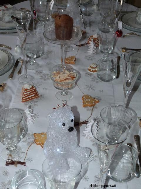 Sp cial f tes table de no l d 39 or ou table de no l d - Boite a gateau gifi ...