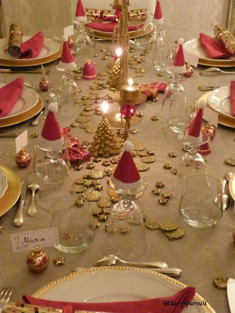 Sp cial f tes table de no l d 39 or ou table de no l d 39 argent xmas tables in gold or silver - Table de noel rouge ...