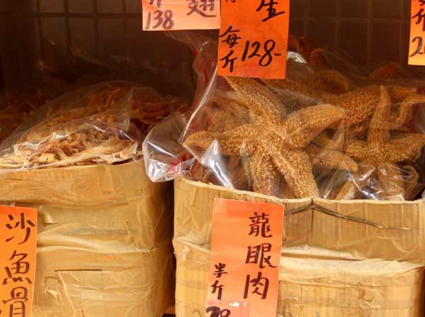 Etoile de mer séchée Hong Kong