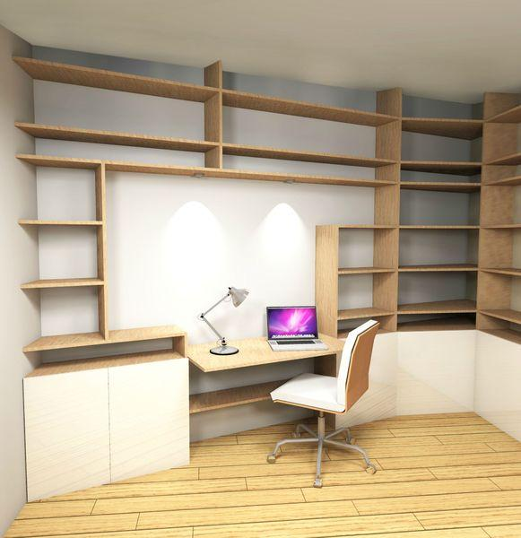 Conception espace bureau chambre ami voir for Conception bureau open space