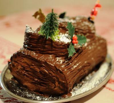 Bûche de Noël à la crème pâtissière