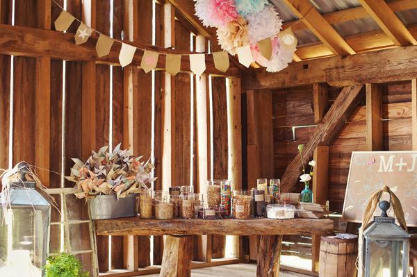 ... de mariage rustique soit chaleureuse et vintage. Des rondins de bois