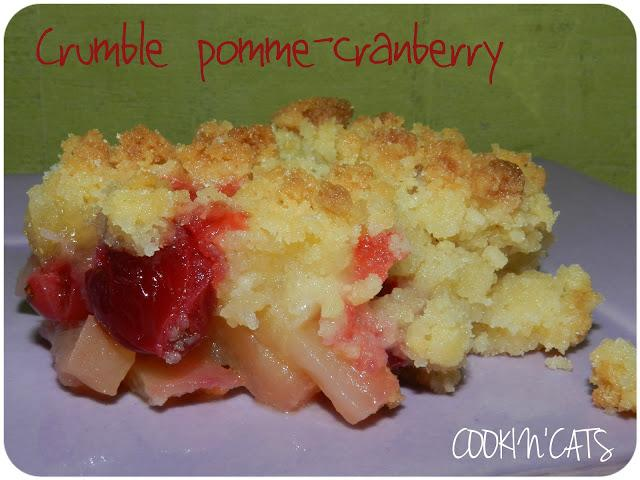 CRUMBLE POMME-CRANBERRY