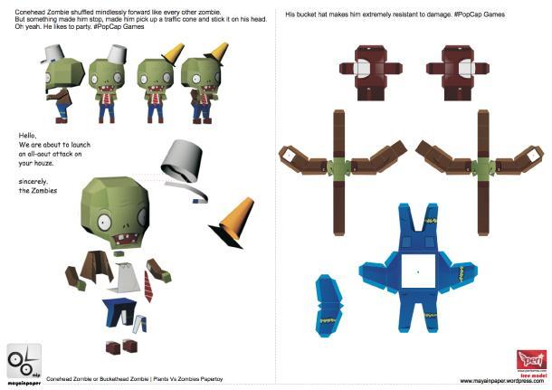 Papercraft plants vs zombies d couvrir for Como hacer la casa de plantas vs zombies en minecraft