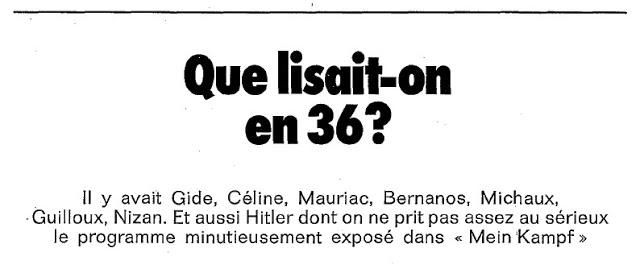 Claude Roy : que lit-on en 1936 ?