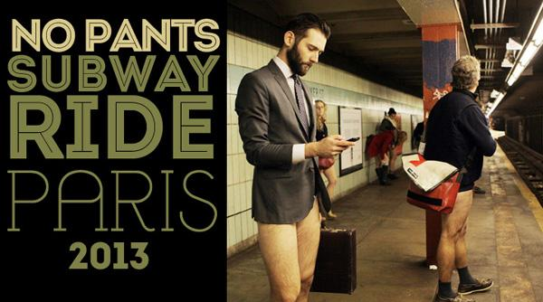 La « No Pants Subway Ride » à Paris le 13 janvier