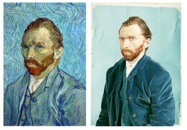 L'autoportrait de Vincent van Gogh imaginé en photo