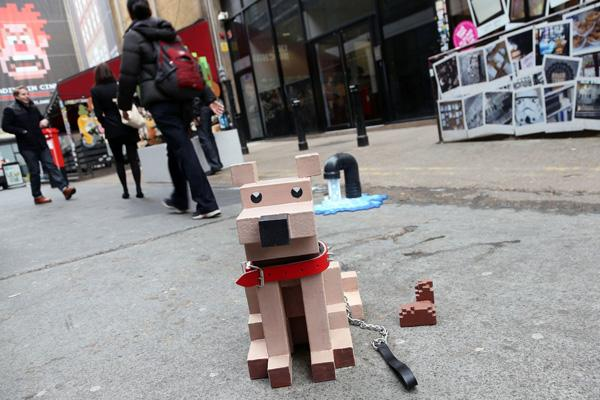 Une opé de street marketing transforme une rue de Londres en 8-bit