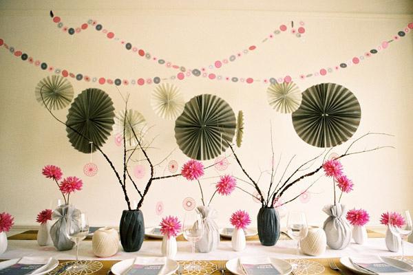L ventail en papier rosace pour d coration de bapteme ou de mariage voir - Decoration avec papier ...