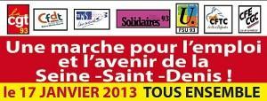 Marche pour l'emploi en Seine Saint Denis 1