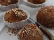 Petites boules pain muesli sans pétrissage