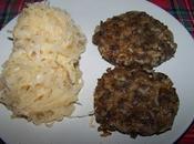 Steaks végétariens lentilles-riz