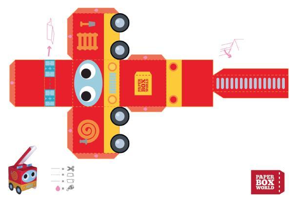 Camion de pompier de paperboxworld paperblog - Comment dessiner un camion de pompier ...