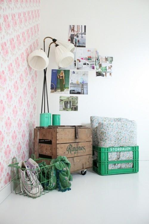 Inspiration d co un mur de papier peint paperblog - Repeindre un mur deja peint ...