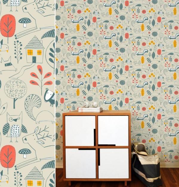Inspiration d co un mur de papier peint paperblog - Papier peint sur un seul mur ...
