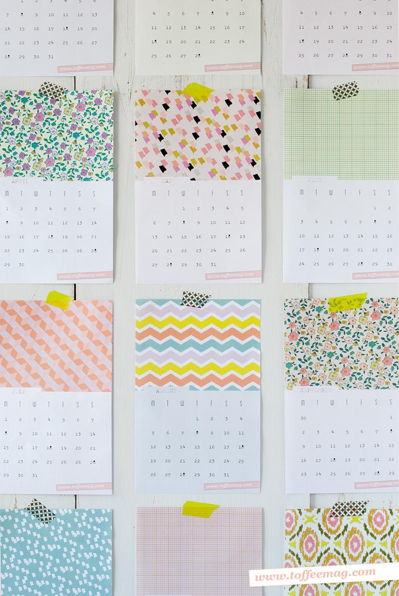 Diy Calendrier  Calendar Template 2016