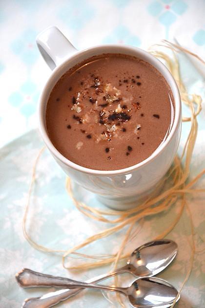 Chocolat chaud au lait de coco lait d 39 avoine noix de p can vegan paperblog - Lait de coco bjorg ...