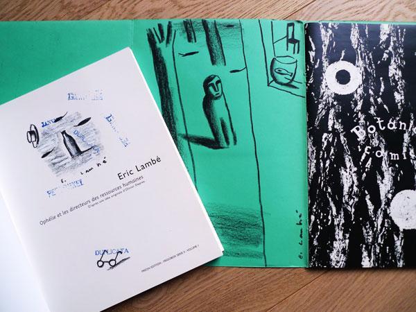 Les 2 premiers ouvrages dédicacés par Eric Lambé / photo © Dezzig