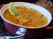 Gratin gambas curry