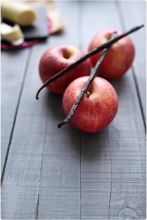 Tarte aux pommes au beurre de vanille