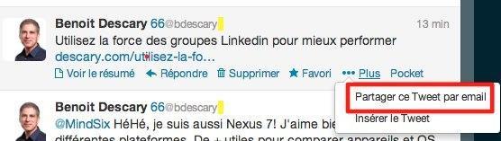 partager tweet email descary 2 Twitter: comment envoyer un tweet par mail depuis Twitter.com