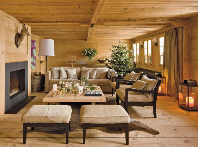 Tendance d co ambiance chalet voir for Decoration interieur style chalet