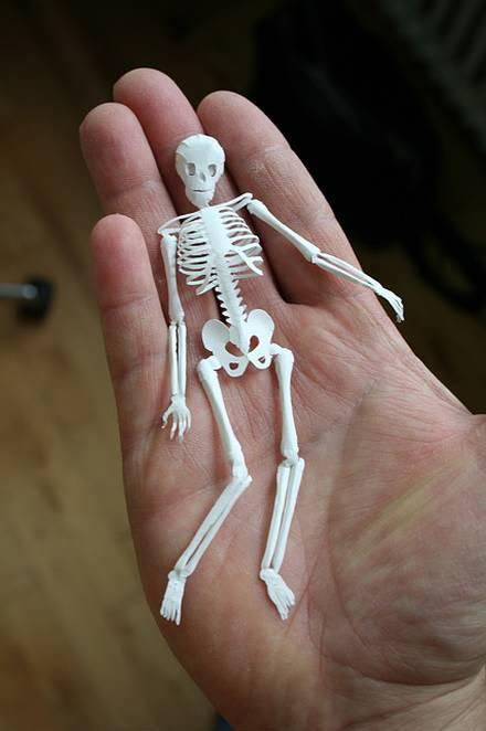 Оригами люди и скелеты