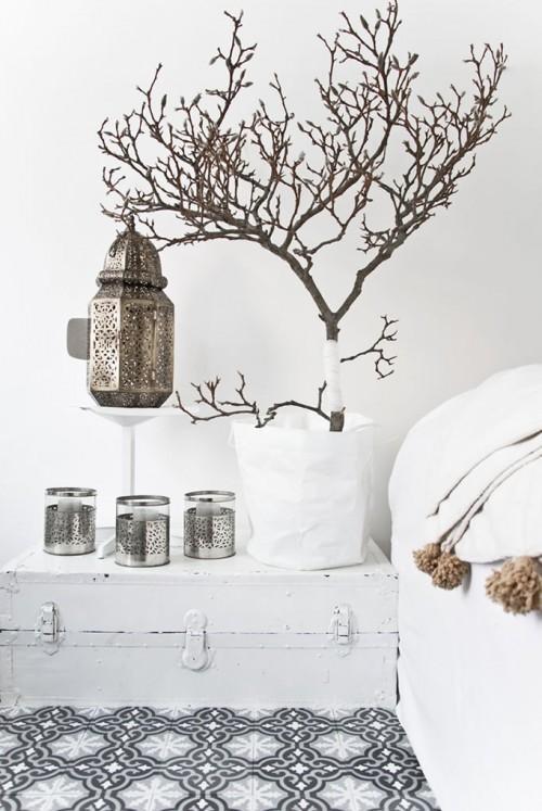 Visite d co inspiration marocaine tout en blanc for Deco inspiration