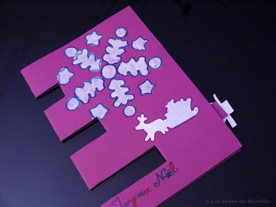 Fabriquer une carte de voeux 3 pop up diy facile paperblog - Carte de voeux pop up ...