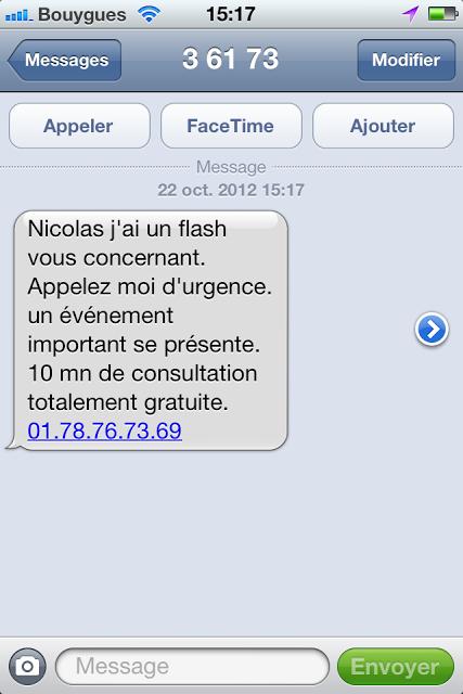 SMS, arnaque et voyance !